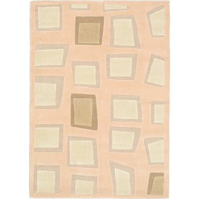 Elegance Pink Abstract Area Rug Rug Size: 47 x 67