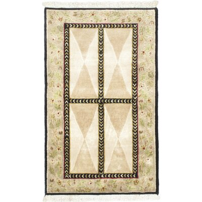 Opulence Cream Open Field Area Rug Rug Size: 3 x 5