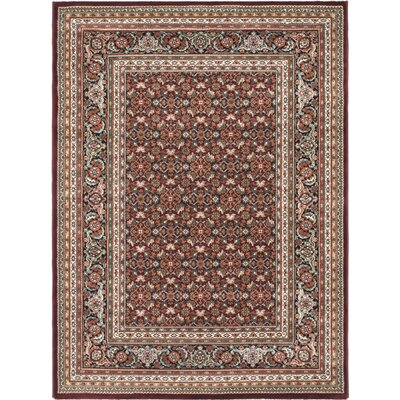 Dark Red Medallion Floral Rug