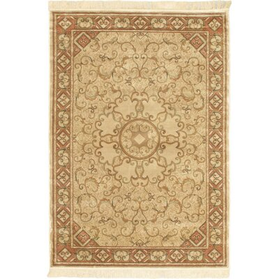 Persian Silk Beige Geometric Area Rug