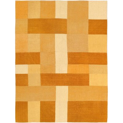 Bohemian Orange Patchwork Area Rug