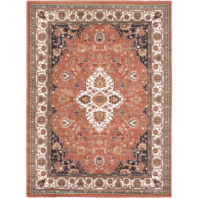 Medallion Floral Copper/Cream/Dark Ivory Area Rug