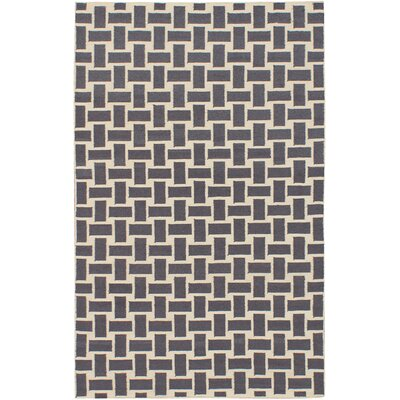 Elani Cream/Dark Gray Geometric Rug Rug Size: 5 x 8