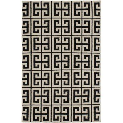 Kerala Black/Cream Geometric Rug Rug Size: 5 x 8