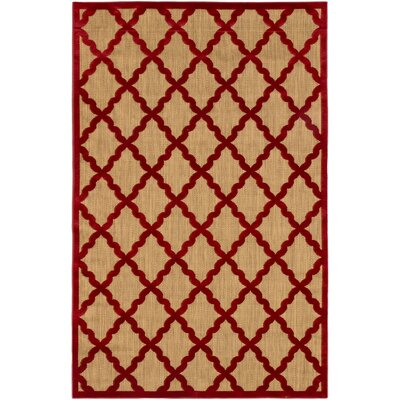 Cadiz Open Field Light Brown/Red Area Rug