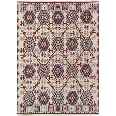 Burma Traditional Ivory Area Rug Rug Size: Rectangle 47 x 67
