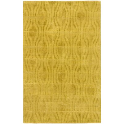 Zig Casual Hand Tufted Dark Hard Yellow Area Rug