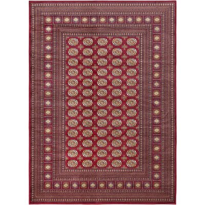 Bokhara Classic Traditional Red Area Rug Rug Size: 53 x 77