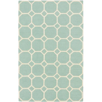 Kasbah Casual Hand Tufted Light Teal Green Area Rug