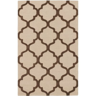 Hartland Casual Hand Tufted Brown Area Rug