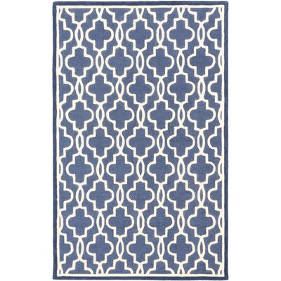 Trellis Casual Hand Tufted Navy Area Rug