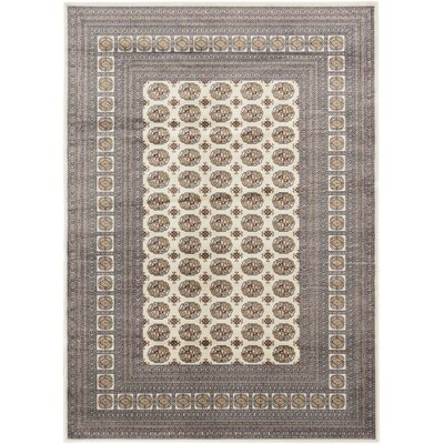 Bokhara Classic Traditional Cream Area Rug Rug Size: Rectangle 53 x 77