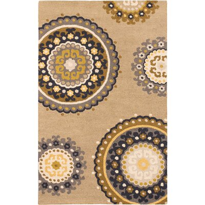 Moreau Casual Hand Tufted Khaki Area Rug