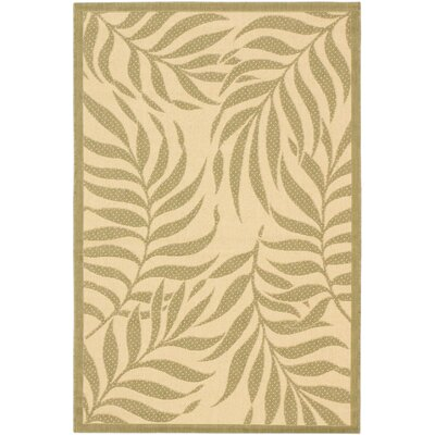 Ardane Cream Indoor/Outdoor Area Rug Rug Size: Rectangle 411 x 75