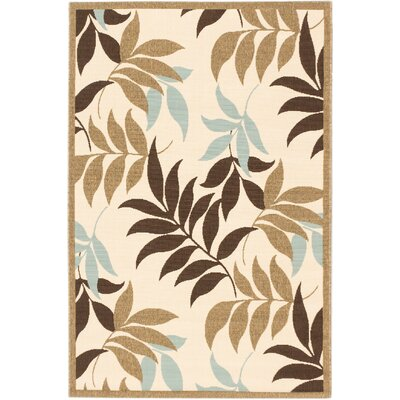 Verandah Dark Brown Indoor/Outdoor Area Rug Rug Size: 67 x 94