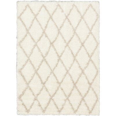Labrador Diamante Shag Beige Area Rug Rug Size: Rectangle 710 x 102