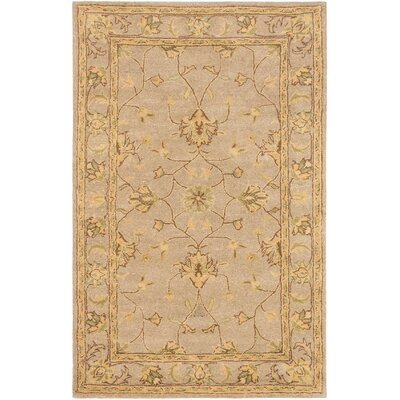 Timeless Traditional Hand Tufted Khaki Area Rug