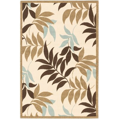 Verandah Dark Brown Indoor/Outdoor Area Rug Rug Size: Rectangle 411 x 75