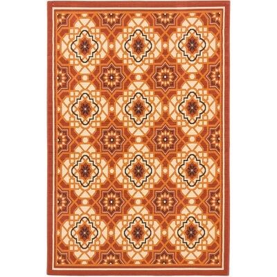 Tropicana Cream Indoor/Outdoor Area Rug Rug Size: Rectangle 411 x 75