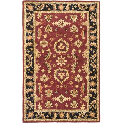Timeless Traditional Hand Tufted Red Area Rug