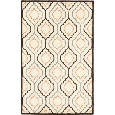 Abstract Art Casual Hand Tufted Cream Area Rug