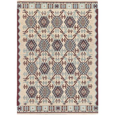Burma Traditional Ivory Area Rug Rug Size: Rectangle 53 x 77