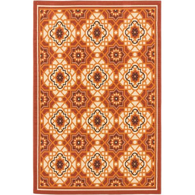 Tropicana Cream Indoor/Outdoor Area Rug Rug Size: 67 x 95