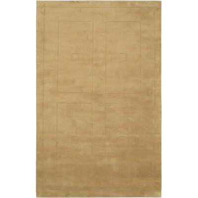 Abstract Art Transitional Hand Tufted Khaki Area Rug