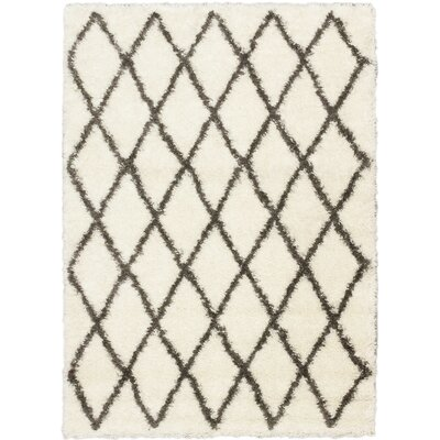 Labrador Diamante Shag Cream Area Rug Rug Size: Rectangle 5 x 8