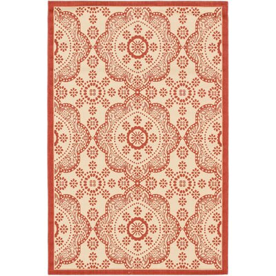 Derell Red Indoor/Outdoor Area Rug Rug Size: Rectangle 33 x 49