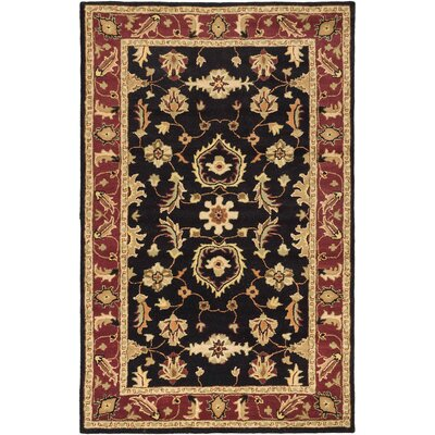Timeless Traditional Hand Tufted Black Area Rug