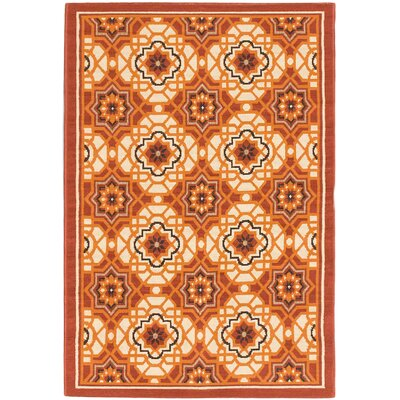 Tropicana Cream Indoor/Outdoor Area Rug Rug Size: 33 x 411
