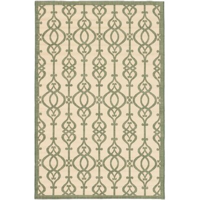 Burston Cream Indoor/Outdoor Area Rug Rug Size: Rectangle 67 x 94