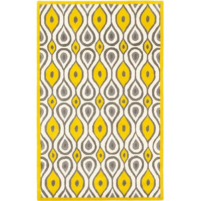 Almada Casual Hand Tufted Yelow Area Rug