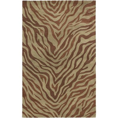 Trek Casual Hand Tufted Brown Area Rug