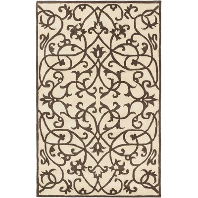 Abstract Art Casual Hand Tufted Brown Area Rug