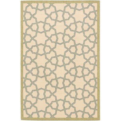 Tropicana Ivory Indoor/Outdoor Area Rug Rug Size: Rectangle 411 x 75
