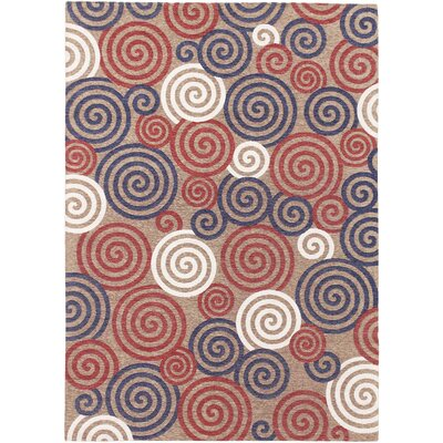 Carley Modern Beige Area Rug Rug Size: Rectangle 53 x 77
