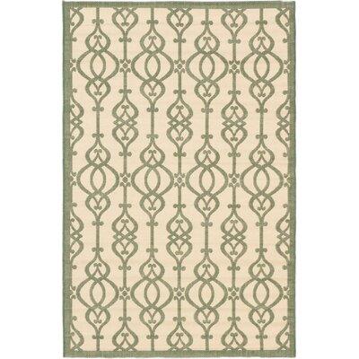 Burston Cream Indoor/Outdoor Area Rug Rug Size: Rectangle 411 x 75