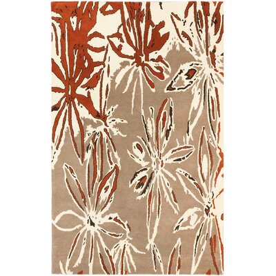 Abstract Art Modern Hand Tufted Cream Area Rug