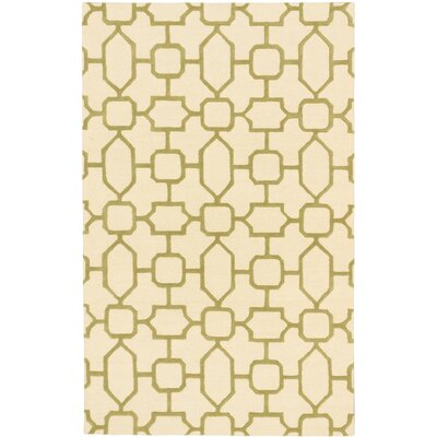 Trellis Casual Hand Tufted Ivory Area Rug