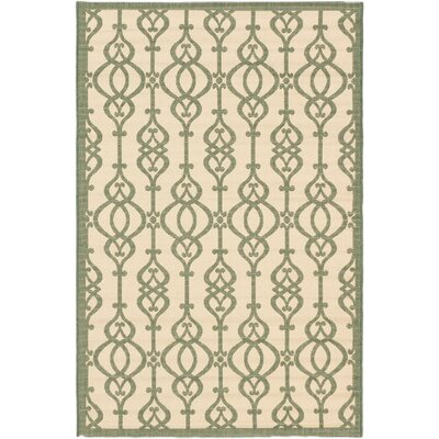 Burston Cream Indoor/Outdoor Area Rug Rug Size: Rectangle 33 x 49