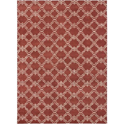 Trellis Transitional Hand Tufted Copper Area Rug Rug Size: 9 x 12