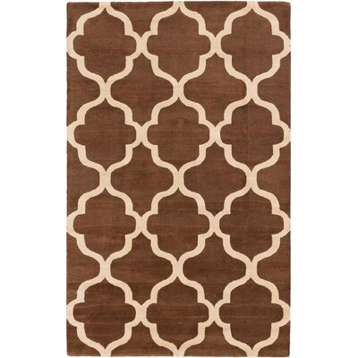 Trellis Casual Hand Tufted Brown Area Rug