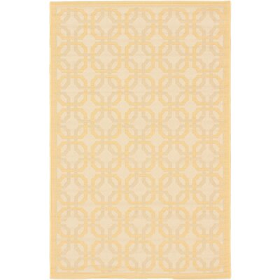 Burston Beige Indoor/Outdoor Area Rug Rug Size: 33 x 49