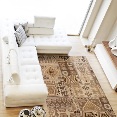 Burma Transitional Brown Area Rug