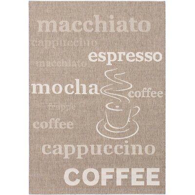 Cafe Mocha  Dark Khaki Area Rug Rug Size: 53 x 77