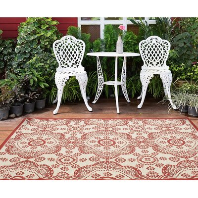Derell Red Indoor/Outdoor Area Rug Rug Size: Rectangle 411 x 75