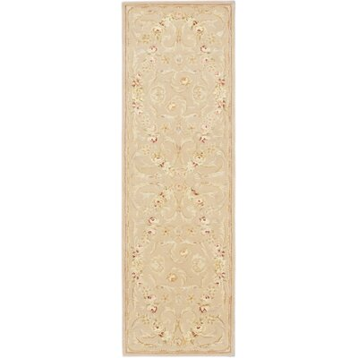 Angeville Traditional Hand Tufted Light Weak Yell Area Rug Rug Size: 3 x 8