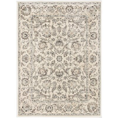 Prescilla Traditional Cream Area Rug Rug Size: 3'11 x 5'3